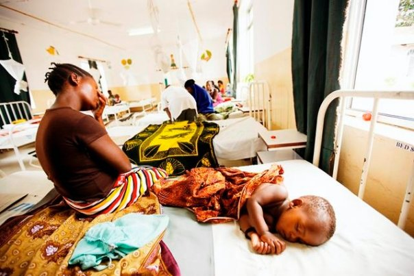 Child in African Hospital - Copyright (Malaria No More)