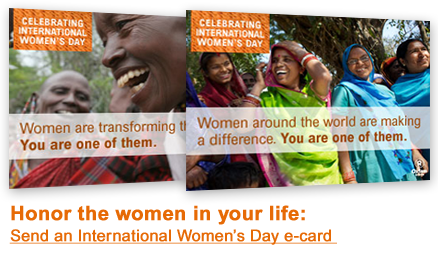 Send an Oxfam E-Card to a Woman You Admire for International Women's Day
