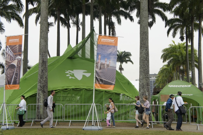 Greenpeace at the People's Summit in Downtown Rio