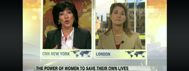 Melinda Gates on CNN International's Amanpour