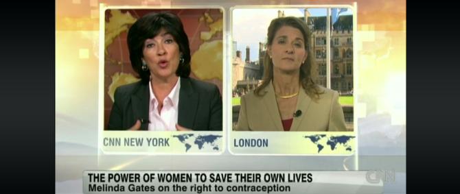 Melinda Gates on CNN International's Amanpour