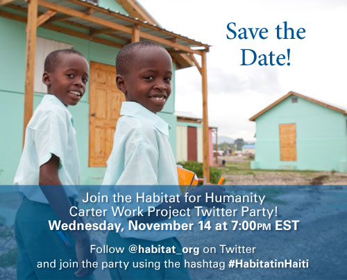 Join Us for the #HabitatinHaiti Twitter Party (November 14, 2012)