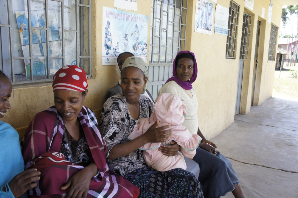 Mothers at Health Center, Ethiopia