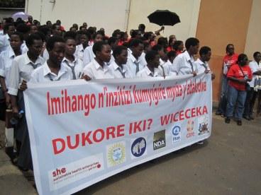 SHE  Rwandan COO Julian Kayibanda at Menstrual Pad Tax Repeal Advocacy March
