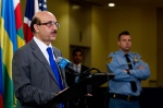 H.E. Ambassador Masood Khan, Permanent Representative of Pakistan, and President of the Security Council for the month of January 2013,addresses the press following Security Council Consultations on the situation in Mali.