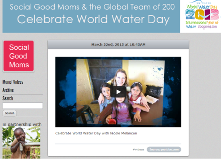 World Water 13 Microsite