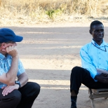 Lameck (HIV positive man) and Dr. Thoma in Macha