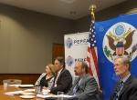 At the US Embassy with reps from CDC, USAID, Pepfar, Peace Corps
