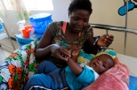 A young boy recovering from malaria
