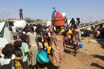 Civilians at the UN House compound on the southwestern outskirts of Juba. Juba, South Sudan UN Photo/Julio Brathwaite