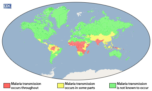 CDC - Malaria Map