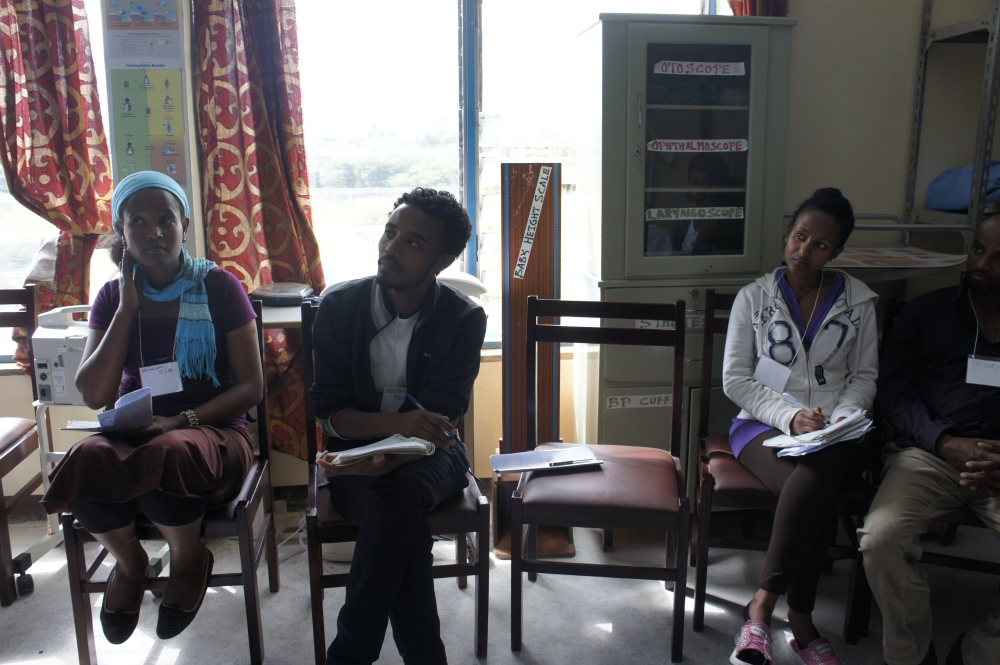 Ethiopian students in midwifery training
