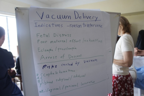 Midwifery training for vaccuum delivery
