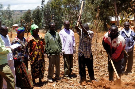 Farmer training in Magulilwa village in Iringa District, Tanzania