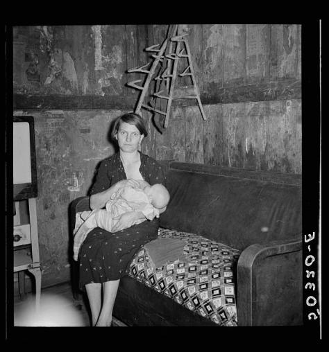 Coal miner's wife and child. Pursglove, West Virginia. Wolcott, Marion Post, 1910-1990, photographer. LC-USF34- 050320-E