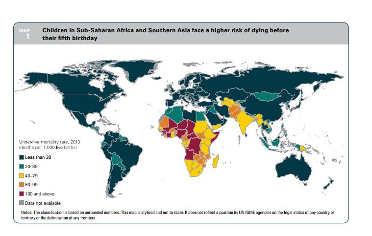 child mortality map