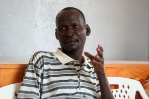 Nicholas Losike, a community health worker in Turkana.