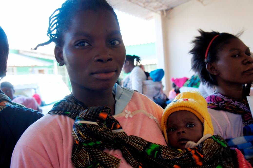 Zambia Mother at Health Clinic