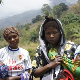 Mothers in the Morogoro mountains in Tanzania