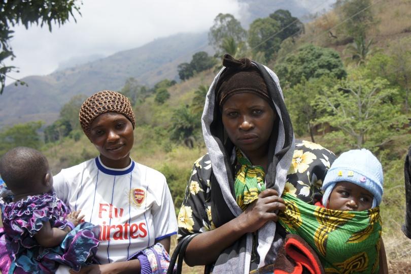 Mothers in the Morogoro mountains in Tanzania