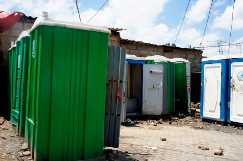Community toilets - Alexandra Township - Johannesburg, South Africa