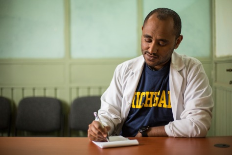 Thomas Mekuria, third-year resident in OB/GYN at St. Paul's Hospital Millennium Medical College in Addis Ababa, Ethiopia.