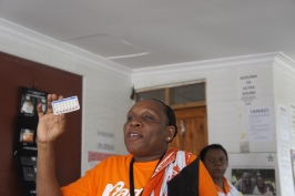 Family planning health worker in Tanzania