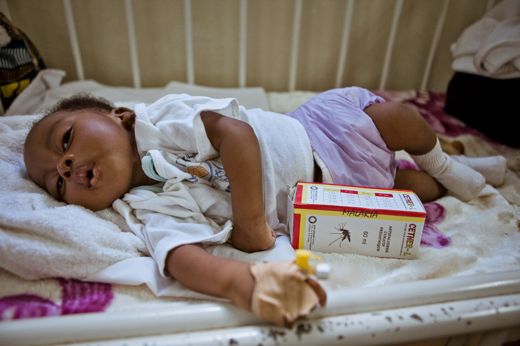 What causes malaria in babies?