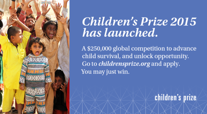 Prize Provides $250K to Fund Programs That Save Children's Lives
