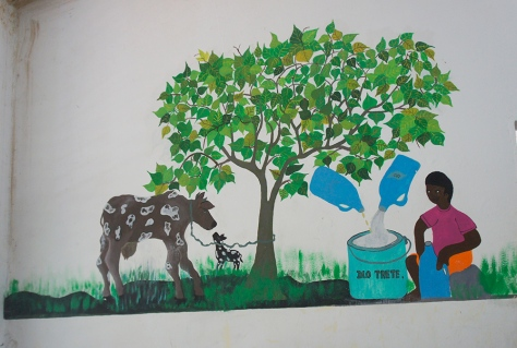 Health messaging mural