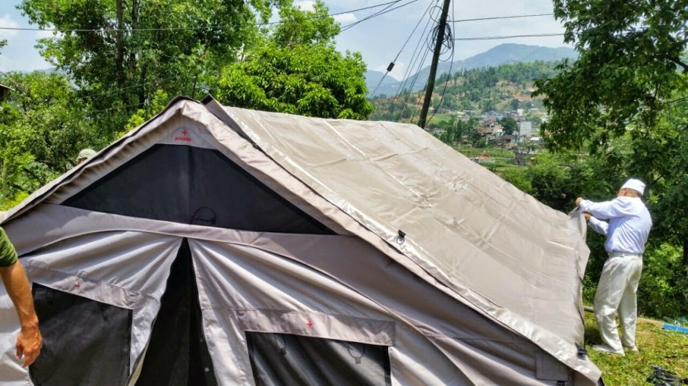 Direct Relief tents