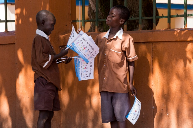 Launch of the Back to Learning campaign in Western Equatoria State. The campaign, an initiative of the Ministry of Science, Education, and Technology, along with partners including UNICEF, aims to get 400,000 children back into classrooms in South Sudan.