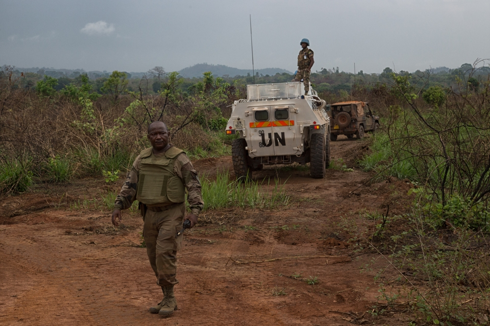 Today, UNMAS in its work as part of MINUSCA, the Frensh Army (Sangaris), and the Central African Forces (FACA), in a combined operation destroyed 688 rockets (approximately 3.5 of explosives) stored in Camp de Roux.  The rockets were labeled to be beyond their use date and their destruction was essential.  PHOTO Nektarios Markogiannis, UN/MINUSCA