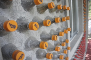 Close-up to the PET bottle wall