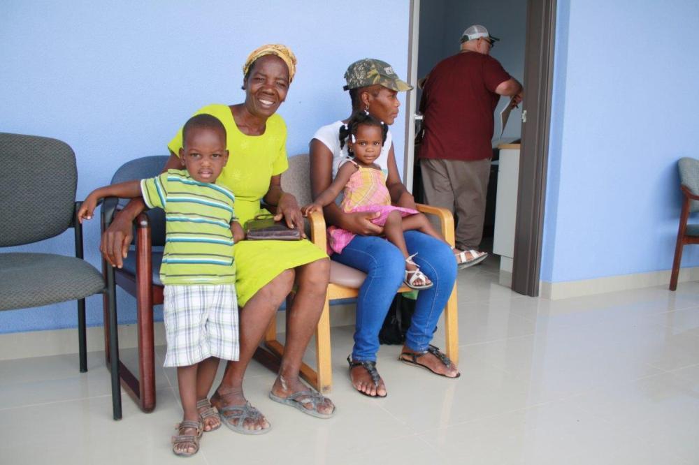 Several vistors wait to be seen at new hospital (1)