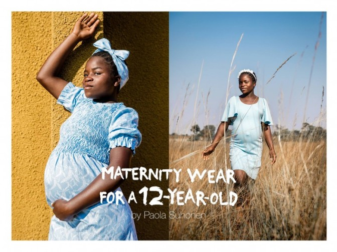 Finnish Fashion Designer Creates Maternity Wear for 12-Year-Olds to Highlight Worldwide Child Pregnancy
