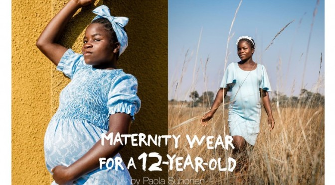 eb80c0f576b1d Finnish Fashion Designer Creates Maternity Wear for 12-Year-Olds to  Highlight Worldwide Child Pregnancy | Social Good Moms