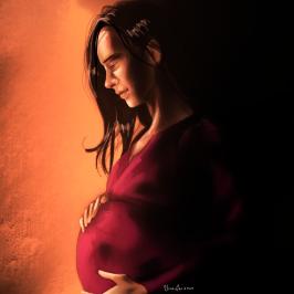 Pregnant-Pink-And-Orange